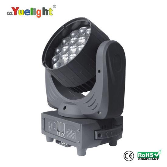 Osram LED 19PCS 15W LED Moving Head Light with Zoom