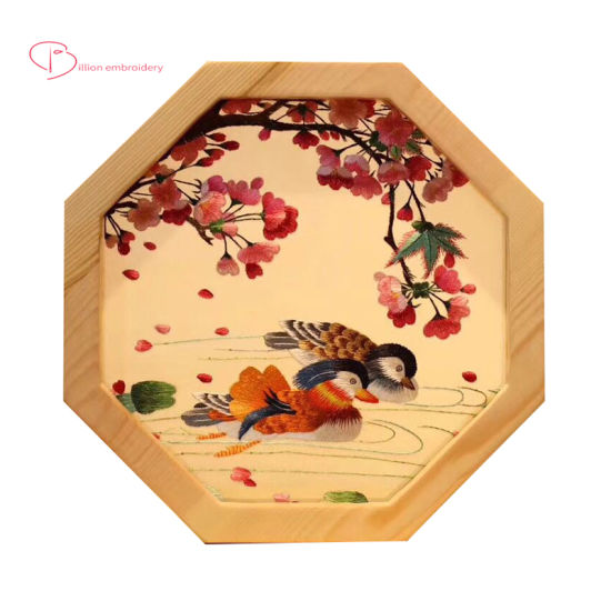 Decoration For Office Desk Handmade Gift Art Craft Chinese Embroidery Double Screen China Suzhou Embroidery And Chinese Embroidery Price