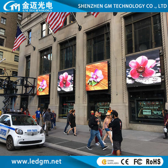 Street Advertising LED Display Screen, Outdoor Full Color 8000 CD P10 LED Sign Panel