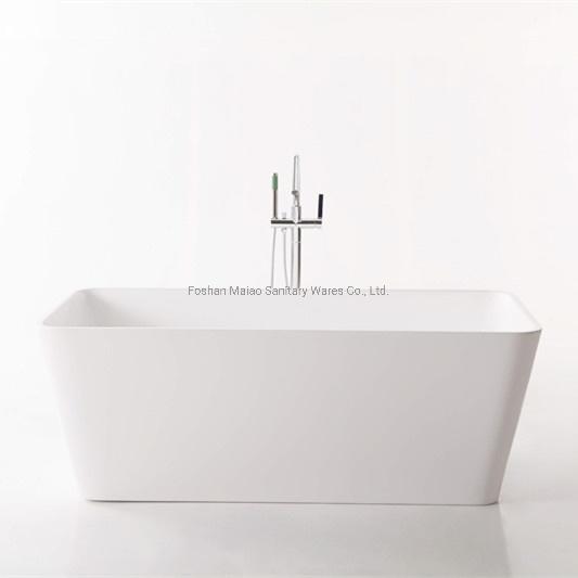 Bathroom Furniture Rectangle Seamless Acrylic Bathtub (BA-8201B)