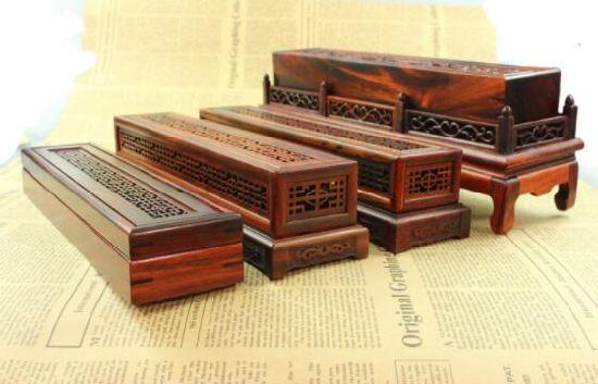 Lao Zen Bamboo Incense Burner/Holder for Incense Sticks with Drawer Joss Stick Box