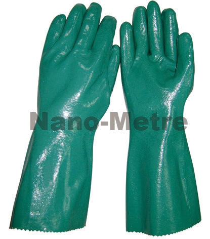 Nmsafety Nitrile Dipping Long Industry Working Safety Glove