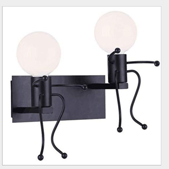 Hot Sale Retro E27 Industrial Style Wrought Iron Villain LED Wall Lights