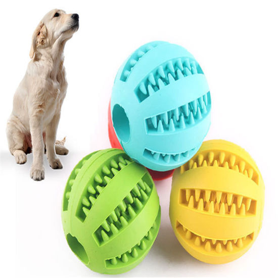 2020 New Dog Toy Clean Tooth Ball Wholesale Teddy Puppy Decompression Elastic Rubber Ball Dog Toy Pet Toy