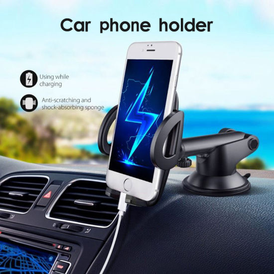 Universal Adjustable Long Arm Dashboard Windshield Car Mount Phone Holder for iPhone Samsung