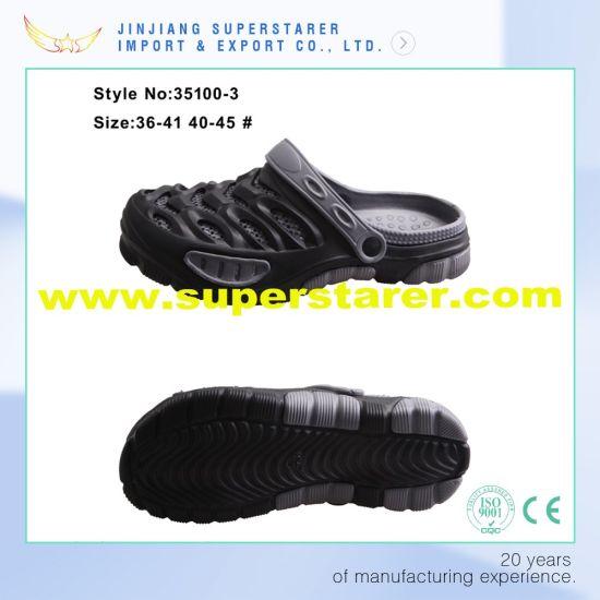 Stylish Man EVA Beach Clogs with Fashion Design Support Customization