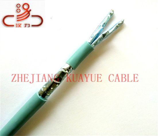 LAN Cable F/FTP Foil Over Unshielded Twisted Pair 23AWG Cat7 Cable pictures & photos