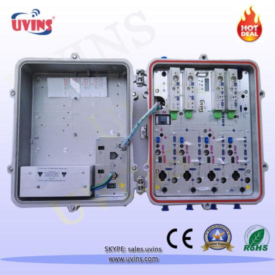 CATV Optical Node/Four Output AGC Optical Receiver with Reverse Path