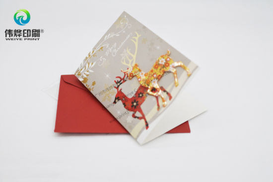 Greeting Festival Paper Printing Gift Card (Deer) pictures & photos