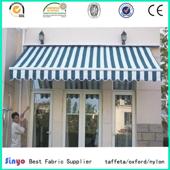 PVC/PU Coated 100% Polyester Oxford Stripe Fabric for Canopy pictures & photos