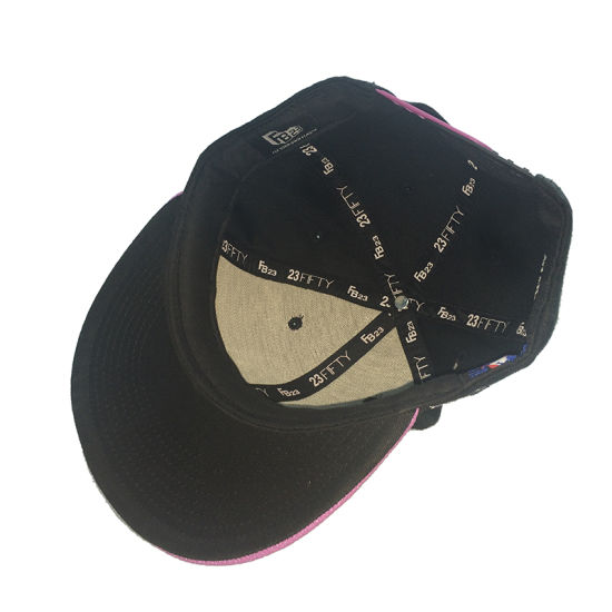 Custom Black Cotton Hip Hop Man Hat 3D Embroidered Cap pictures & photos