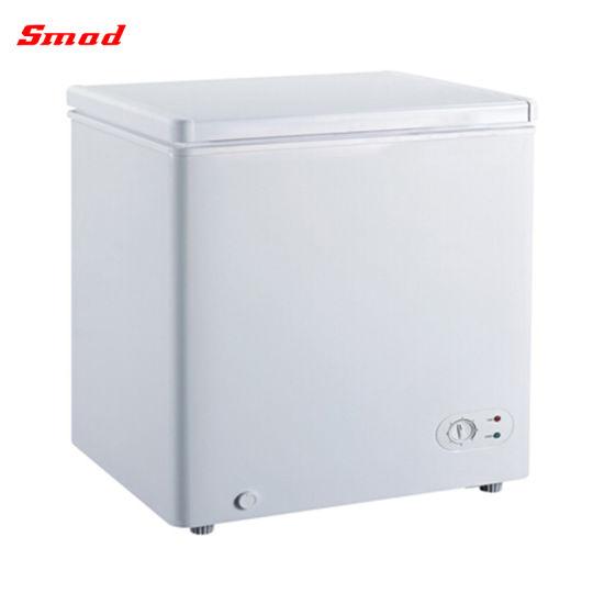 Small Deep Double Solid Door Meat Freezer