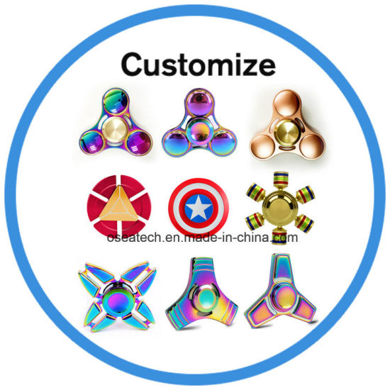 3D Electric Ceramic Bearing Wind Toy Fidget Hand Finger Tri-Spinner pictures & photos