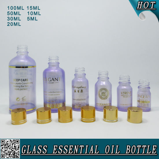 Custom Colored Empty Cosmetic Glass Essential Oil Bottle pictures & photos