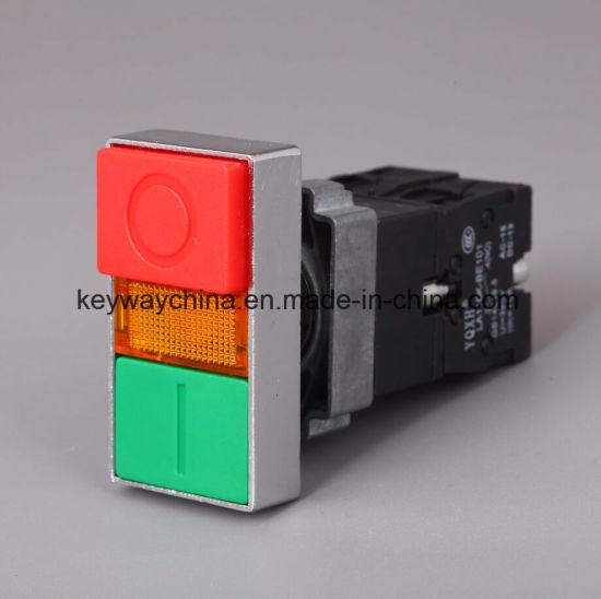 China Keyway Square-Illuminated Head 22mm Push Button Switch