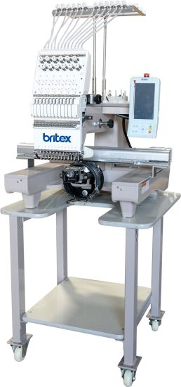Br-1201 Single Head 12 Needle Computerized Flat Cap Embroidery Machine
