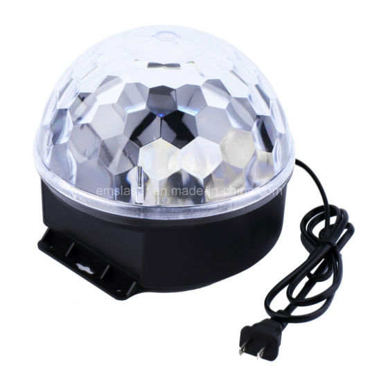 Sales Disco Light Rgbywp LED Magic Ball Stage Light Home Party Light Sound Control pictures & photos