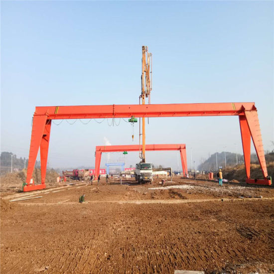 Factory Mh Type Single Girder Gantry Crane 10t 16 Tons 25 Ton for Sale