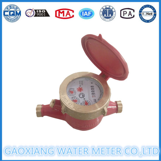 """1/2"" Inch Hot Brass Multi-Jet Dry Dial Type Water Meter"