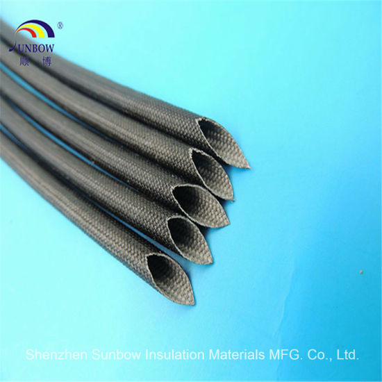 china flame resistance silicone resin fiberglass sleeving for wire