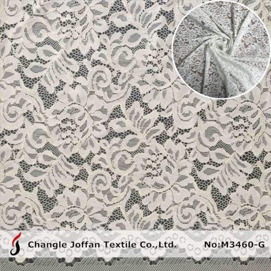 Dress Fabric Tricot Lace Fabric Swiss Cotton Lace Wholesale (M3460-G)