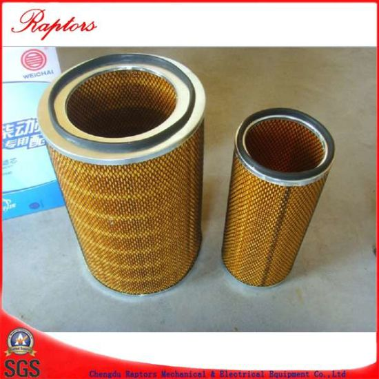 Weichai Engine Model Wd615 Wd10 Air Filter pictures & photos