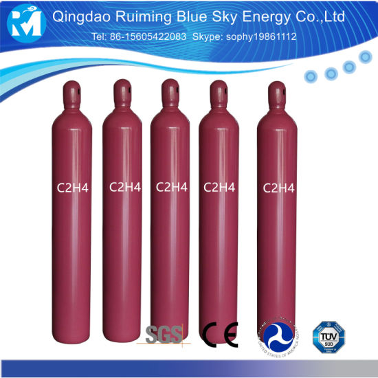99.995% Ethylene Gas in 40L/50L Gas Cylinder/Oxygen Cylinder C2h4