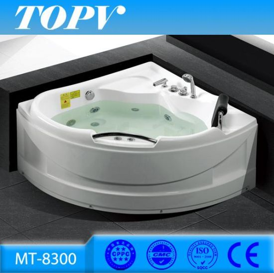 China Modern Bathroom Corner 1 3m Jet Whirlpool Massage Bathtub For Mini Indoor One Person Hot Tub Spa Bath Mt 8300 China One Person Hot Tub Whirlpool Bathtub
