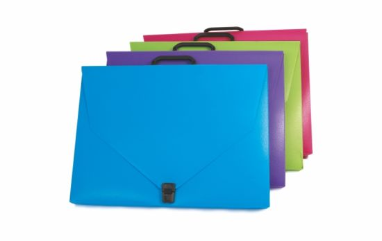 Portable Portfolio Document Bag Expanding File with Handle and Buckle