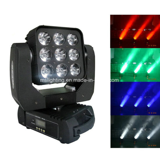 New Hot Selling 9*10W RGBW 4in1 LED Moving Head Light (MHLED B9)