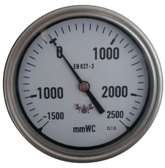 """High Quality 100mm 4"""" Bellows Stainless Steel Pressure Gauge"""
