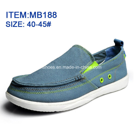 Hottest Men′s Slip-on Leisure Shoes Canvas Shoes Wholesale Customize (MB188) pictures & photos