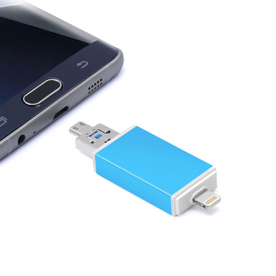 2 in 1 Metal Microsd (TF) +SD OTG Card Reader for Smartphone (YT-R004) pictures & photos