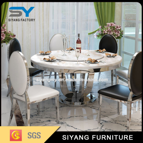 Marble Dining Table Set Round Dining Table for Restaurant & China Marble Dining Table Set Round Dining Table for Restaurant ...