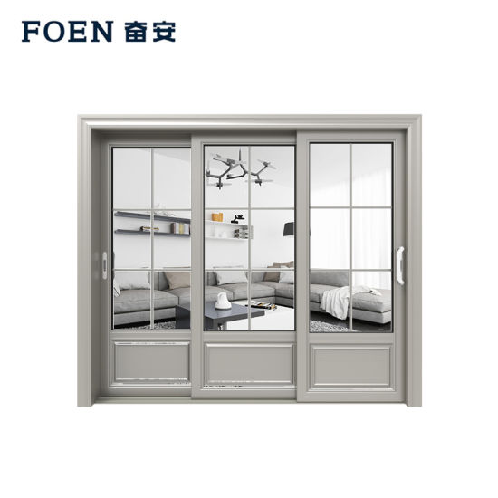 Silver and Commercial Chemical Polishing Interior Doors Useing 6063 T5 Housing Aluminium