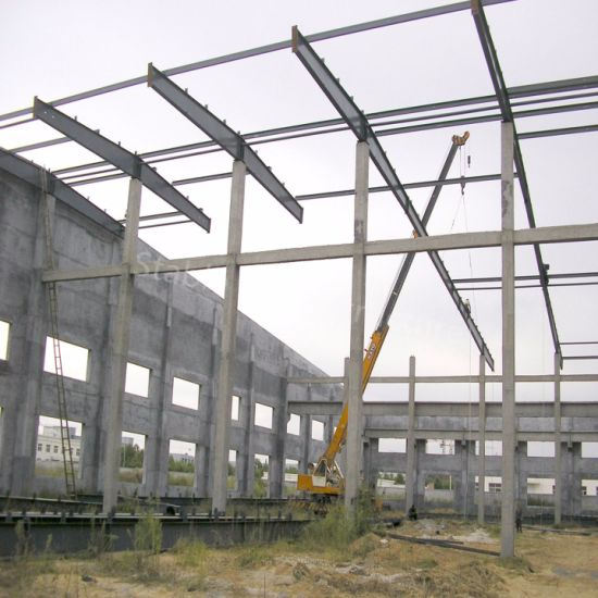 Steel Structure Roof with Concrete Wall