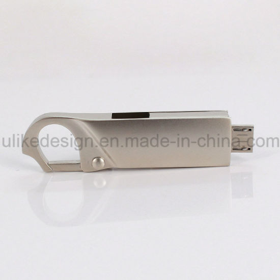 3.0 Metal OTG USB Flash Disk High Speed Classic Packing DIY Logo (3.0 OTG-104) pictures & photos