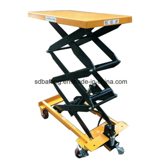 Small Hydraulic Platform Manual Scissor Lifting Table