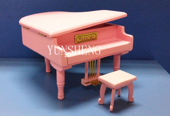Lovely Pink Wooden Piano Musical Box Elegant Music Box for Birthday Gift (LP-31F) F