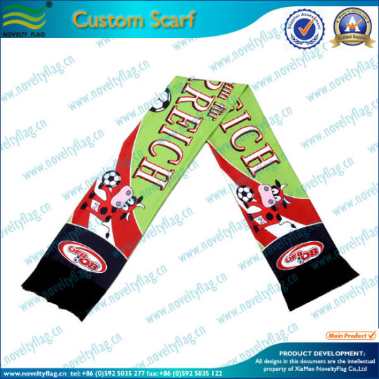 Custom Soccer Fans Scarf and Football Fans Scarves (M-NF19F06008) pictures & photos