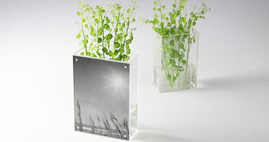 China Custom Acrylic Vase With Photo Frame Acrylic Photo Four