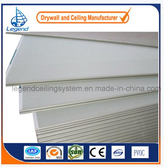 China Standard Gypsum Board /Moistureproof/Fireproof