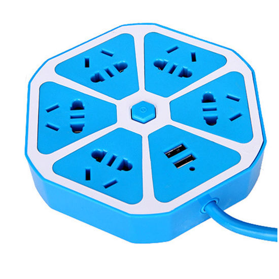 Multi Plug Extension USB Socket Power Outlet