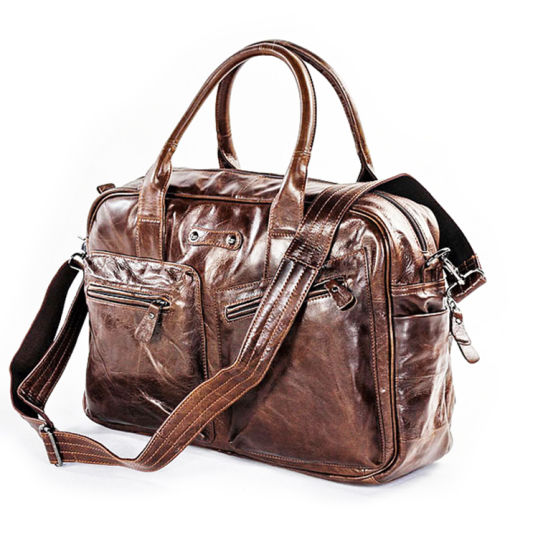 Factory Wholesale Good Price Vintage Leather Business Shoulder Bag for Men pictures & photos