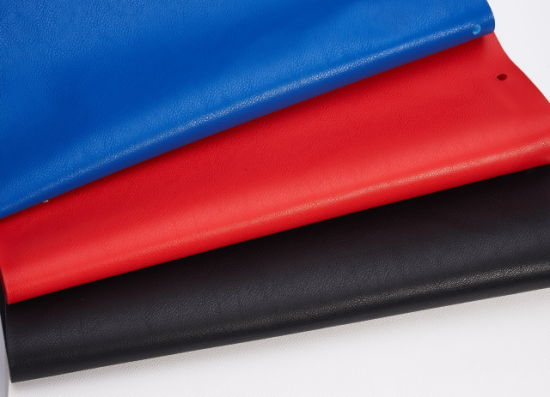 Synthetic Fingerpring PU Artifical Durable Embossed Leather for Bags