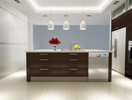 Custom Kitchen Design Modern Style High Gloss Wood Kitchen Cabinet pictures & photos