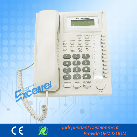Exclusive Key Telephone for PBX Keyphone pH201 pictures & photos