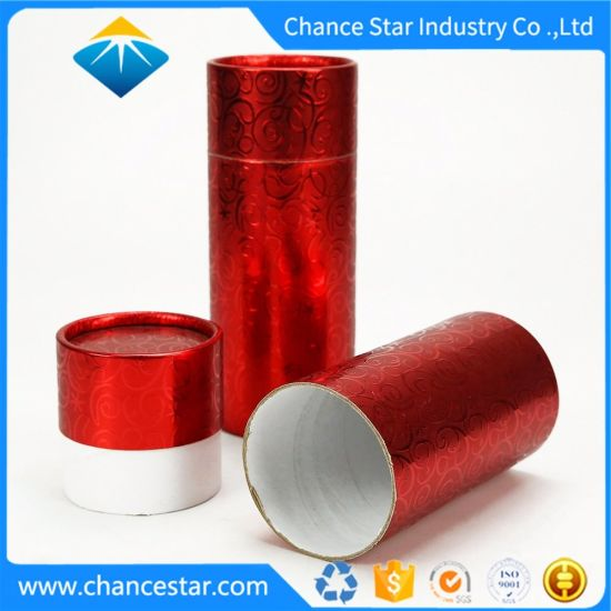Custom Texture Paper Gift Wrapping Cardboard Tube Box