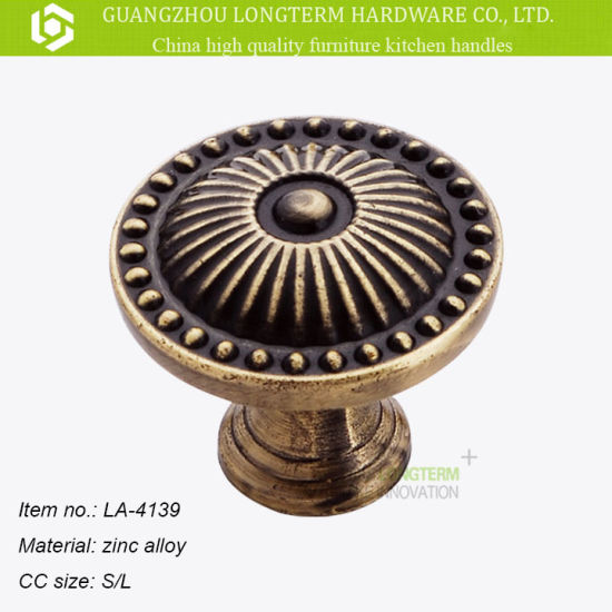 China Vintage Round Furniture Knobs Cabinet Handle Drawer Pull