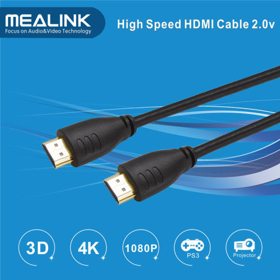 HDMI Cable 2.0 with Gold Plated (Supports 4K@60Hz Hdr 2160p 18gbps, 3D) pictures & photos